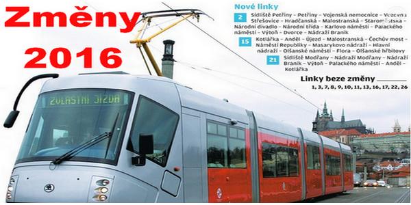 Praha: změny v provozu od 28. srpna 2016