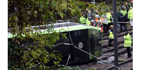Londýnská tramvaj překročila povolenou rychlost