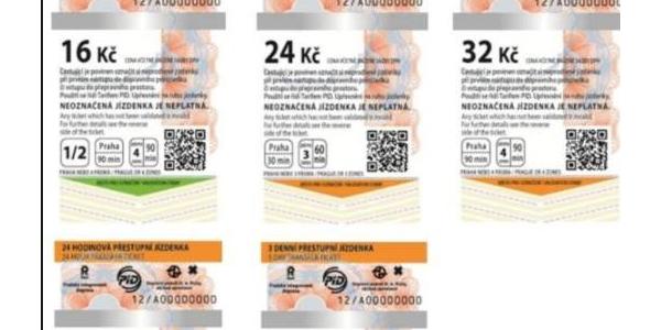 Ceny a druhy jízdenek v Pražské MHD