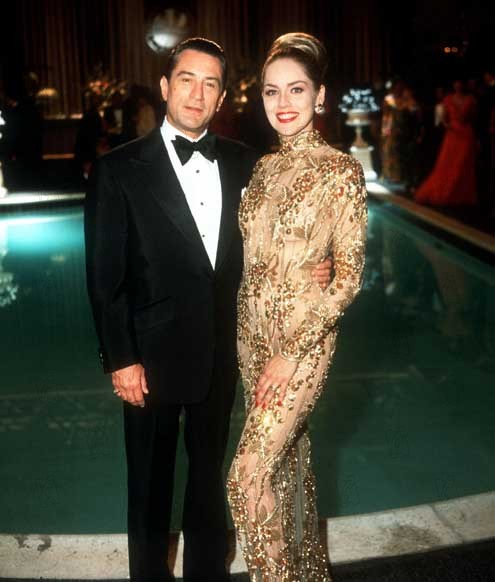 Společná fotka De Nira a Sheron Stone z filmu Casino
