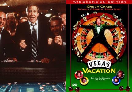 Plakát k filmu z prostředí kasina Dovolená v Las Vegas