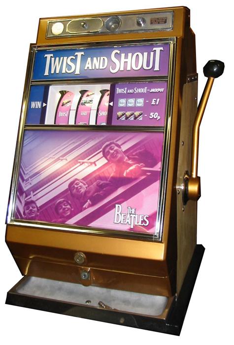 fotografie starý hrací automat bandita