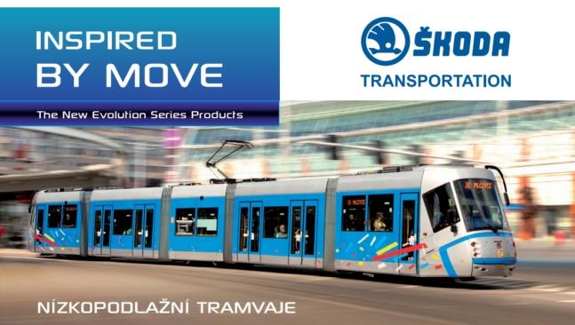 Prospekt tramvaje Škoda Plzeň