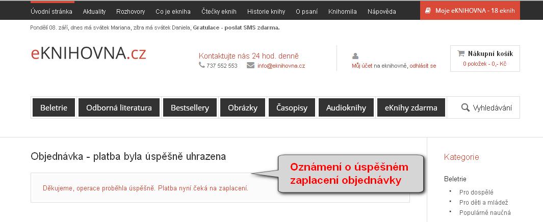 dokončení platby a návrat na eknihovna.cz