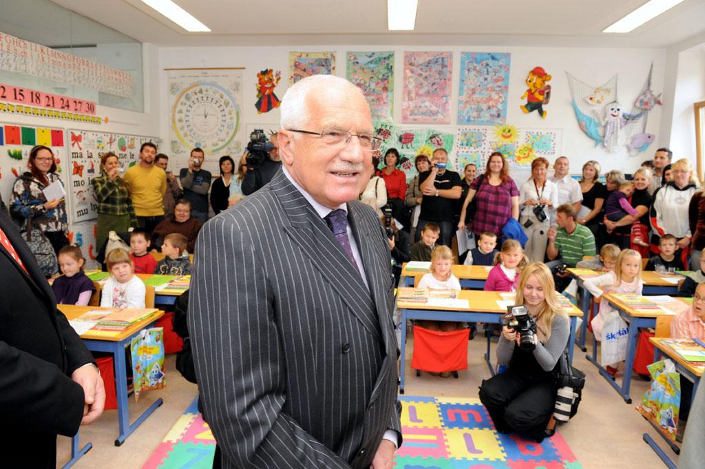 Foro prezidenta České republiky Vaclava Klause ve škole