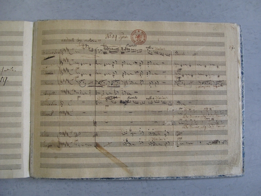 Původní notový zápis z Fidlovačky 1834