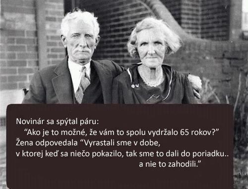 Fotka manželský pár po 65 letech