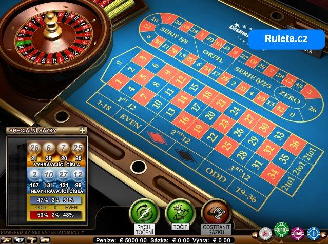 Obrázek náhled na internetovou online ruletu zdarma