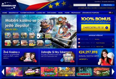 ukázka grafiky úvodní strany casinoeuro.com