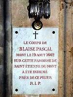 Náhrobní deska Blaise Pascala