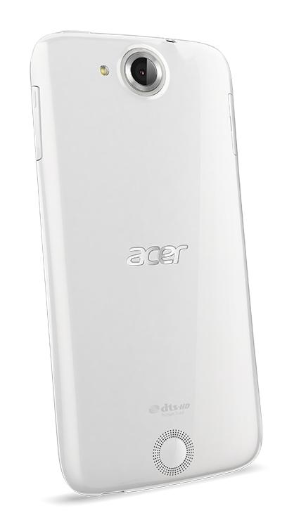 fotografie smartphone Acer Liquid Jade bíly zadní pohled