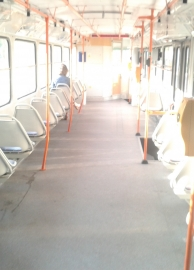 Interier tramvaje